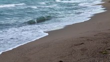 Time Lapse ,Wave On Clear Sand...
