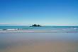 Beach on the coast of Cape Tribulation on the Coral Sea in Far North Queensland, Australia, north of Port Douglas