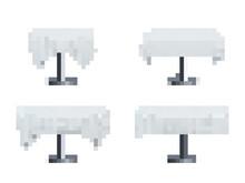 Restaurant Table Set Vector Realistic Illustration
