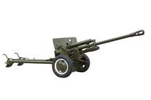 Artillery Gun Isolated On Whit...