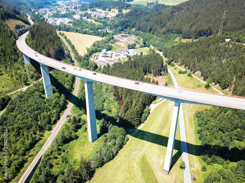 Printed kitchen splashbacks Khaki Gutachtalbrücke ist eine Autobahn in Titisee-Neustadt