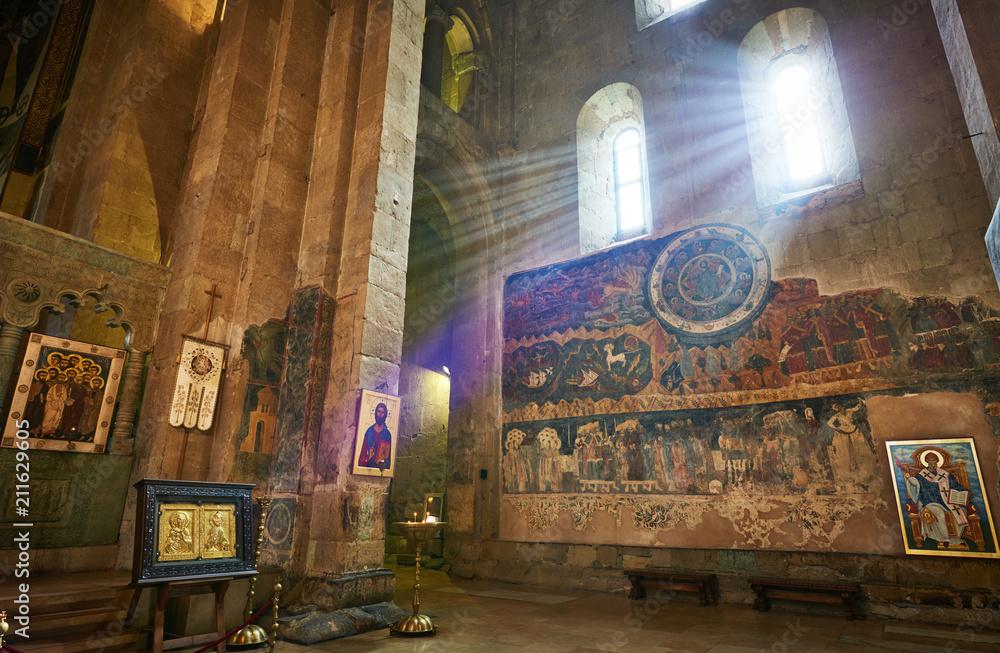 Fototapety, obrazy: Svetitskhoveli orthodox church with ancient wall painting in Mtskheta, Georgia