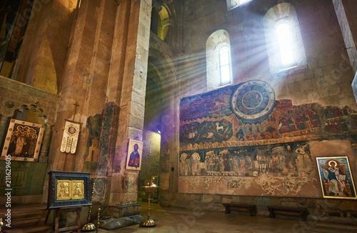 Fotografie, Obraz  Svetitskhoveli orthodox church with ancient wall painting in Mtskheta, Georgia