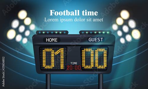 Obraz na płótnie Electronic board for football game score Vector