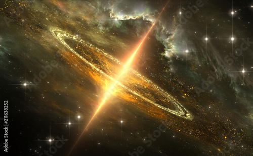 Supermassive black hole in galactic center, Gravitational singularity Wallpaper Mural