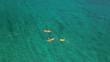 Aerial view of ocean kayakers - kayak on the sea