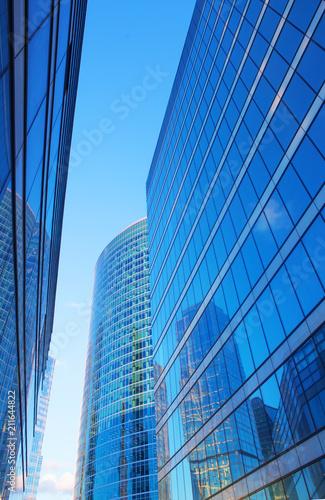 Foto op Canvas Stad gebouw Beautiful view of futuristic city landscape.
