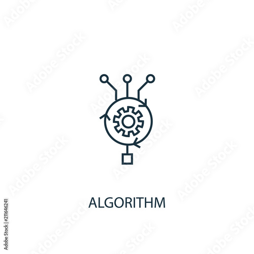 Photo Algorithm icon. Simple element illustration