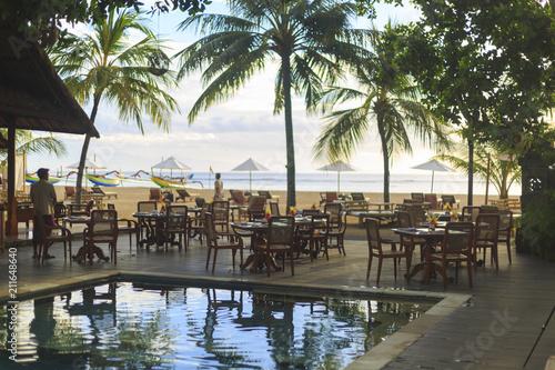 Foto op Aluminium Indonesië A Sanur resort on Bali in Indonesia