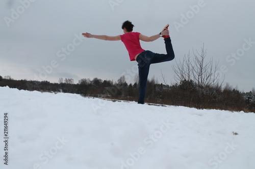 Tuinposter Wintersporten woman