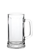Empty Beer Mug On White