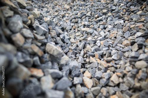 Photo Pile of the macadam stones
