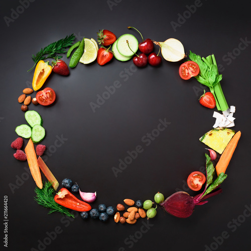 Photo  Healthy food background