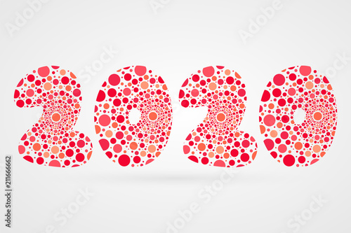 Poster  2020 Happy New Year abstract vector illustration