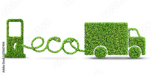 Fotografie, Obraz  Concept of clean fuel and eco friendly cars - 3d rendering