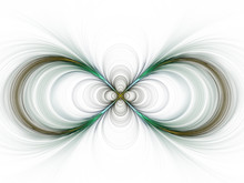 Sign Of Infinity- Fractal Interpretation. Computer Generated Abstract Background, 3D Rendering