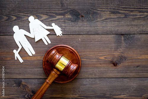 Family law, family right concept Fototapet