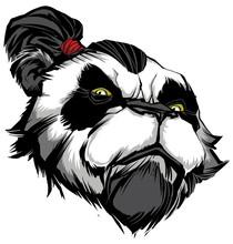 Panda Master On White / Hand D...