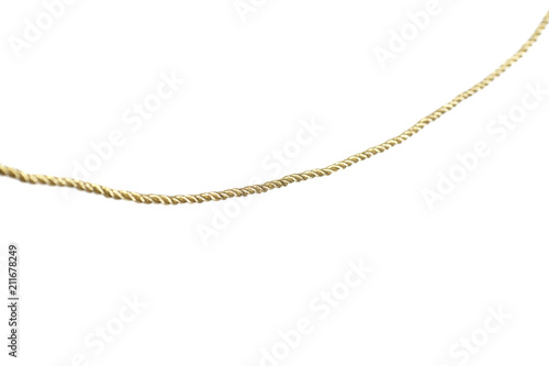 Valokuva  Golden rope isolated