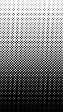 Halftone Gradient Pattern Vertical Vector Illustration. Black And White Halftone Texture. Pop Art Halftone, Comics Background. Background Of Art. Phone Application Black White Background. AI10