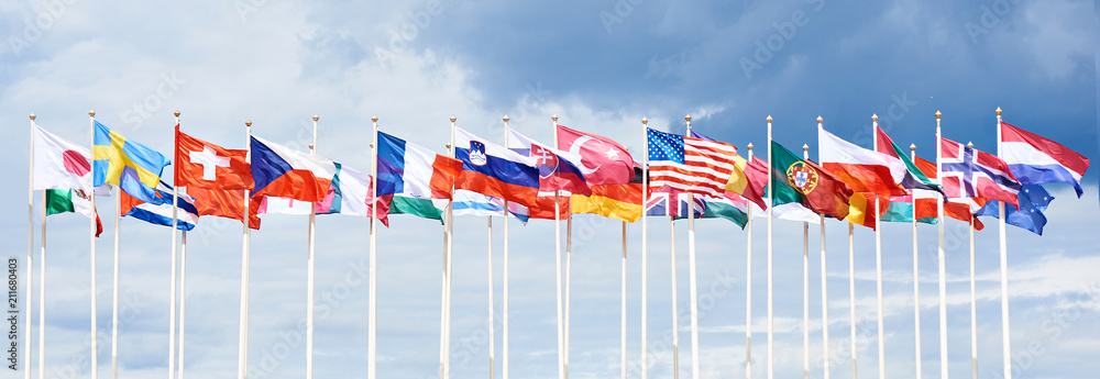Fototapety, obrazy: Flags of different countries