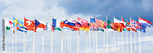 Obraz Flags of different countries - fototapety do salonu