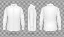 White Blank Male Shirt With Lo...