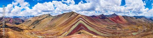 Poster Rainbow Mountains, Cusco, Peru. 5200 m in Andes, Cordillera de los Andes, Cusco region in South America. Montana de Colores.