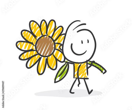 Fototapeta Strichfiguren / Strichmännchen: Sonnenblume. (Nr. 275)