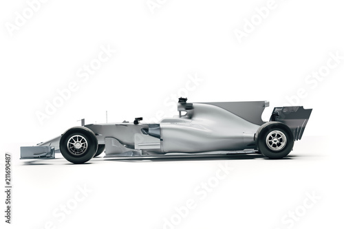 3d F1 race car render