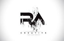 RA R A Grunge Brush Letter Log...