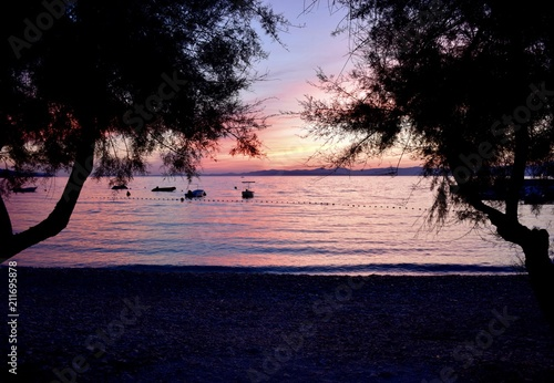 Foto op Canvas Cathedral Cove Sunset om Brač, Croatia