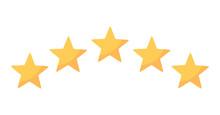 Five Rating Yellow Stars