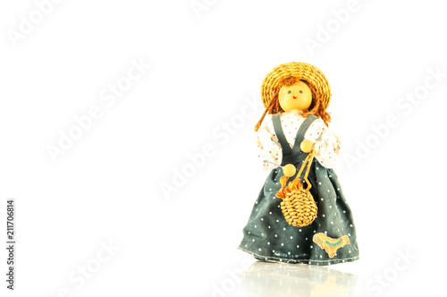 Fotografie, Obraz  Pierrot toy doll on white background