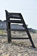 Empty Lifeguard Stand On Outer...