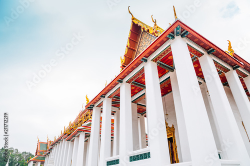 Foto op Aluminium Bedehuis Wat Ratchanatdaram temple in Bangkok ,Thailand