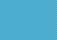 Abstract Background Blue Background With Lots Of White Circle Dots.