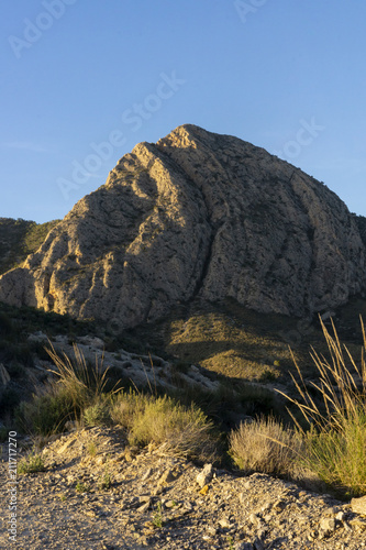 Photo Mountain pico del agudo  La Murada Orihuela, Spain Mountain landscape with path