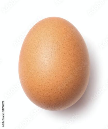 single chicken egg isolated on white background Fototapeta