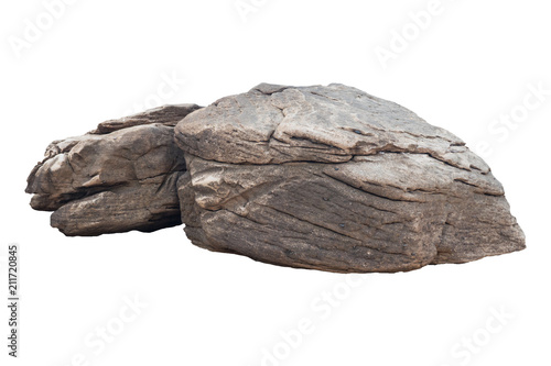 rock isolated on white background Wallpaper Mural
