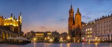 Krakow Market Square, Poland -...