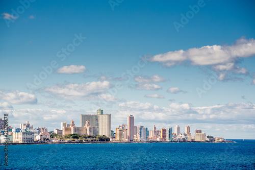Poster Havana Havana waterfront buildings