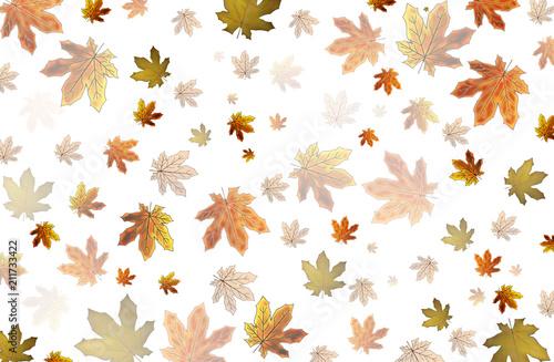 Photo красивые желтые осенние листья на белом фоне