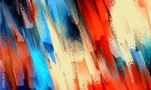 Abstrakcyjny obraz olejny