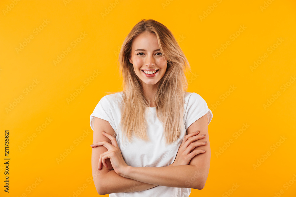 Fototapety, obrazy: Portrait of a smiling blonde young woman