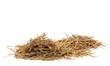 canvas print picture - Straw pile isolated on white background and texture
