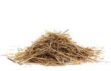 Straw Pile Isolated On White B...