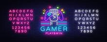 Gamer Play Win Logo Neon Sign ...