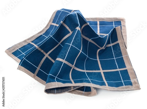 Tela A blue clean handkerchief with a checkered pattern