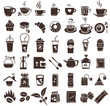 coffee icon set, brown color